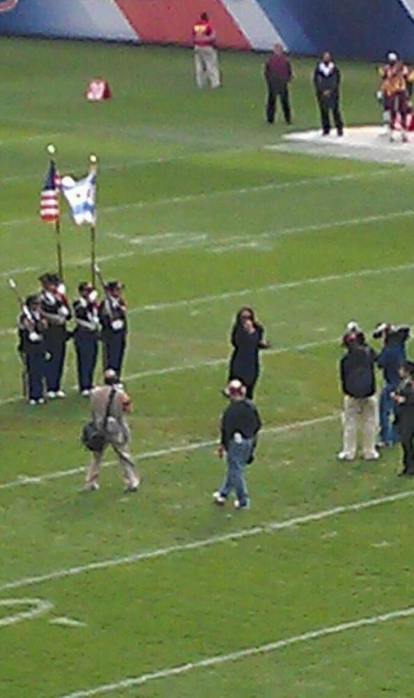 """National Anthem"" at the Chicago Football Classic at Soldier Field"